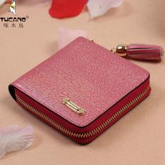 Harga Tucano Korea Fashion Style Siswa Woodpecker Wanita Pendek Ayat Wallet Mei Kecil Wallet Asli