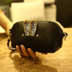 Promo Tukang Sepatu Wanita Yang Super Rantai Perhiasan Selempang Dompet Kecil Tas Tangan Hitam Oem Terbaru