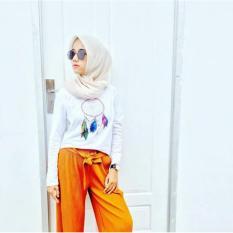 ELLIPSES.INC Tumblr Tee / T-Shirt / Kaos Wanita Dreamcatcher - Putih Lengan Panjang