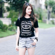 ELLIPSES.INC Tumblr Tee / T-Shirt / Kaos Wanita Jackdaniels - Hitam