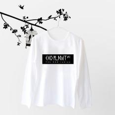 Acc Global / Kaos / Kaos Lengan Panjang / Kaos Wanita EXO PLANET #2 Putih