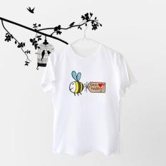 Tumblr Tee / T-Shirt / Kaos Wanita Lengan Pendek Bee Warna Putih