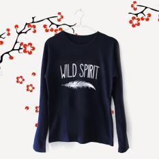 ELLIPSES.INC Tumblr Tee / T-Shirt / Kaos Wanita Wild Spirit - Navy Lengan Panjang