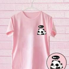 Tumblr Tee/T - Shirt/Kaos Pocket Panda Tidur Pink
