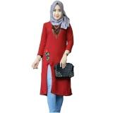 Toko Tunik Atasan Wanita Blouse Muslim Rose Slit Maroon Terdekat