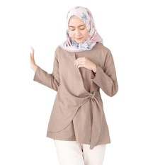 Promo Tunik Atasan Wanita Blouse Muslim Tunik Sala Top Mocca Di Jawa Timur