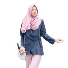 Model Tunik Atasan Wanita Blouse Muslim Tunik Sala Top Navy Terbaru