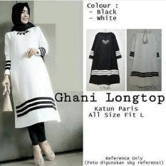 Harga Tunik Baju Muslim Blouse Muslim Ghani Longtop White Yang Bagus