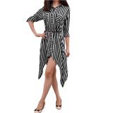 Beli Femme Tunik Stripy Black Cicilan