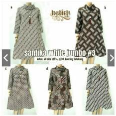 Tunik/Dress/Atasan Batik Santika Jumbo