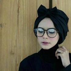 Turban Pita Polos By Panda Hijab - Black
