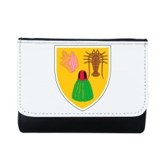 Turks dan Caicos National Emblem Multi-Fungsi Faux Kulit Dompet Kartu Dompet Hadiah-Intl