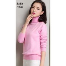 Turtleneck Blouse - pink