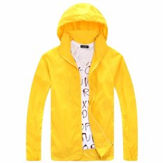 Tuumiki Ringan Jas Hujan Aktif Outdoor Hoodie Bersepeda Menjalankan Jaket Windbreaker Kuning Oem Diskon 50