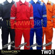 Tw01 Teamwork Coverall Baju Kerja Safety Wearpack Terusan Murah Bagus - 336D5A