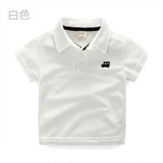 Promo Tx 7277 Rumah Korea Baru Anak Anak Bordir Kemeja Warna Solid Lengan Pendek T Shirt Putih Akhir Tahun