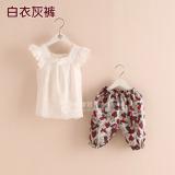 Tz 2415 Korea Anak Perempuan Baru Kasual Setelan Jas Putih Celana Celana Bunga Promo Beli 1 Gratis 1