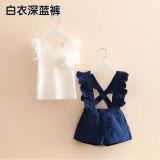 Ongkos Kirim Celana Tz 2963 Sayang Pinggiran Jamur Kuping Baru Gadis Putih Biru Tua Celana Di Tiongkok