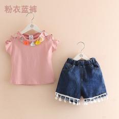 Tz-3526 rumbai bayi baru gadis jas (Merah muda pakaian biru celana) OE427FAAARF8CNANID-61365162