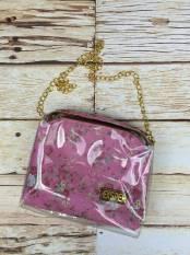 Jual Ubutik Korean Bag Wanita Slingbag Mika Bunga Pink Satu Set
