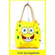 Katalog Ubutik Korean Bag Wanita Tote Sumbu Kanvas Spongebob Ubutik Terbaru