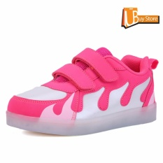 Review Ubuy 2017 Children Boys Girls Running Jump Sepatu Luminous Sneakers Led Light Up Kids Sneaker Pink Di Tiongkok