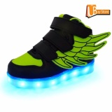 Spesifikasi Ubuy Children Boys Girls Menjalankan Sayap Sepatu Luminous Sneakers Led Light Up Kids Sneaker Hijau Baru