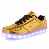 Harga Ubuy Kids Girls Boys Light Up Roda Sepatu Roller Skates Sneakers Dance Boot Heelys Emas Baru