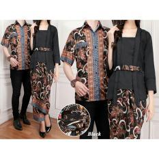 Baju Wanita Shop Couple Kebaya Kutu Baru Kemeja Pria Modern Baju Batik Couple (ntasi) 7T - Hitam / Kebaya Modern / Dress Gamis Pesta / Kemeja lengan pendek / Pakaian Muslim
