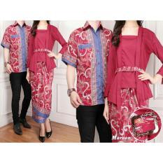 UC Couple Kebaya Kutu Baru Kemeja Pria Modern Baju Batik Couple (ntasi) 7T - Maroon / Kebaya Modern / Dress Gamis Pesta / Kemeja lengan pendek / Pakaian Muslim