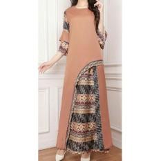 UC Jumpsuit Setelan Batik Wanita Cantik Muslim Luci / Set Baju Dan celana Muslim Muslimah  AK (renamo) - Mocca D2C