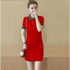 Toko Atasan Wanita Dress Polos Gu Cool Kerah / Mini Dress / Terusan Panjang / Kaos bagus (kw ccigu)