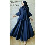 Harga Uc Gamis Dress Baju Kurung Syari Hijab Muslim Syar I Dress Wanita Muslimah Terusan Balotely Lili 7T Navy Gamis Asli