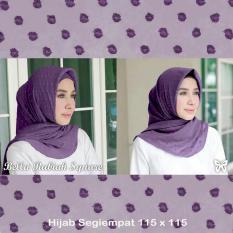 UC Jilbab Trend 2017 Abel / Hijab Syari Syar'i Polos Intant Print /Jilbab Square pasminah / Kerudung Segi Empat Rubiah import SS (llabe) - Dark Purple