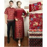 Beli Uc Couple Kebaya Batik Setelan Kutu Baru Modern Ema Batik Couple Busana Kemeja Muslimah Pria Dress Gamis Wanita Muslimin Yem 7T Maroon Batik Dengan Harga Terjangkau