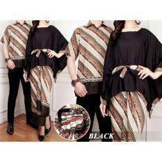 Spek Uc Couple Kebaya Batik Setelan Kutu Baru Modern Mergi Batik Couple Busana Kemeja Muslimah Pria Dress Gamis Wanita Muslimin Game 7T Hitam