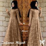 Toko Jual Uc Dress Gamis Muslim 2 In 1 Melina Gamis Fashion Maxi Syari Brukat Simple Elegant Terusan Baju Gamis Muslimah Wanita Fanaza Ss Mocca