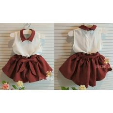 UC Baju Dress Anak Strip Polos 3 - 5 tahun / Baju Kodok / Baju dan Rok Polos / Trendy Lucu Bagus Kiddy (ts ddyki) NR - Maroon