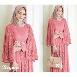 Promo Uc Maxi Dress Lengan Panjang Regin Gamis Gaun Pesta Muslimah Baju Muslim Wanita Baju Pesta Ginare Ss Peach Unicell Distro