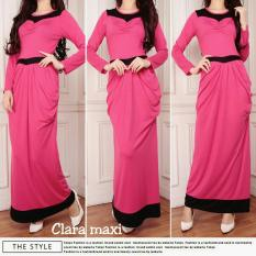 UC Dress Remaja Gamis Muslim Gaun panjang Claire / Gamis maxi Rok lebar Lengan Panjang / Dress Formal hijab AK (aracl) - Fanta D2C