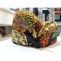 Udeng Bali - Hitam Prada Gold