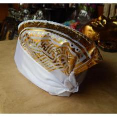 Udeng bali motif ukiran bali putih