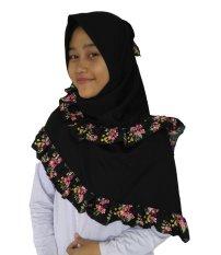 Review Udlia Jilbab Segi Empat Remple Bunga Hitam Di Jawa Barat