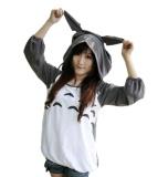 Ufosuit Hot Anime Totoro Grey Hoodie Sweater Gaya Kasual Untuk Pria Wanita Intl Asli