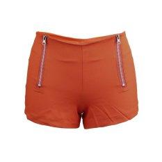 Uinn Pinggang Tengah Celana Denim Wanita Warna Permen Jin Pendek Wanita Jeans Pelangsing S Orange (Warna: Sebagai Gambar Pertama) (Warna: seperti Gambar Pertama)-Intl