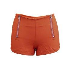 Uinn Pinggang Tengah Celana Denim Wanita Warna Permen Jin Pendek Wanita Jeans Pelangsing S Orange (Warna: Seperti Gambar Pertama)-Intl