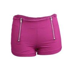 Uinn Pinggang Tengah Celana Denim Wanita Warna Permen Jin Pendek Wanita Jeans Pelangsing S Mawar Merah (Warna: Seperti Gambar Pertama)-Intl