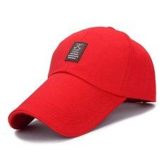 UINN New Desain Summer Mountain-climbing Sun Visor Baseball Atap Yang Panjang Cap Merah-Intl
