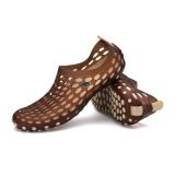 Review Uinn Musim Panas Beach Men Bernapas Sandal Kasual Anti Slip Karet Platform Sandal Khaki Intl Oem Di Tiongkok