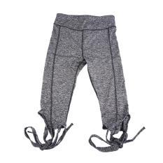 UINN Yoga Celana Legging Balet Perban Lintas Jalur Cepat Kering Elastis Olahraga Abu-abu-